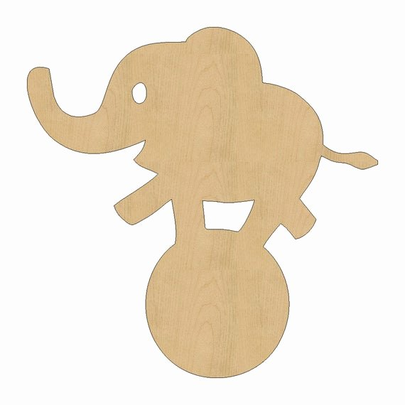 Baby Elephant Cut Outs Luxury Baby Elephant Circus Shape Laser Cut Unfinished Wood Shapes