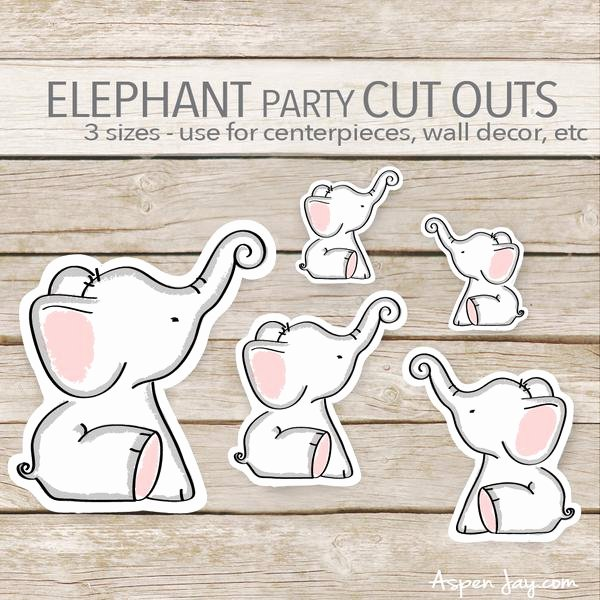 Baby Elephant Cut Outs Luxury Pink Elephant Cut Outs – aspenjay