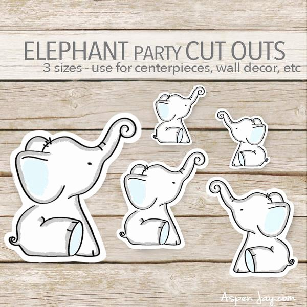 Baby Elephant Cut Outs New Blue Elephant Cut Outs – aspenjay