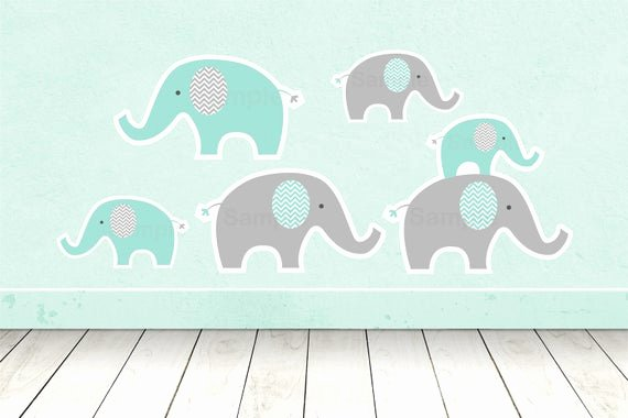 Baby Elephant Cut Outs Unique Cute Elephant Cut Outs Elephant Baby Shower Elephant