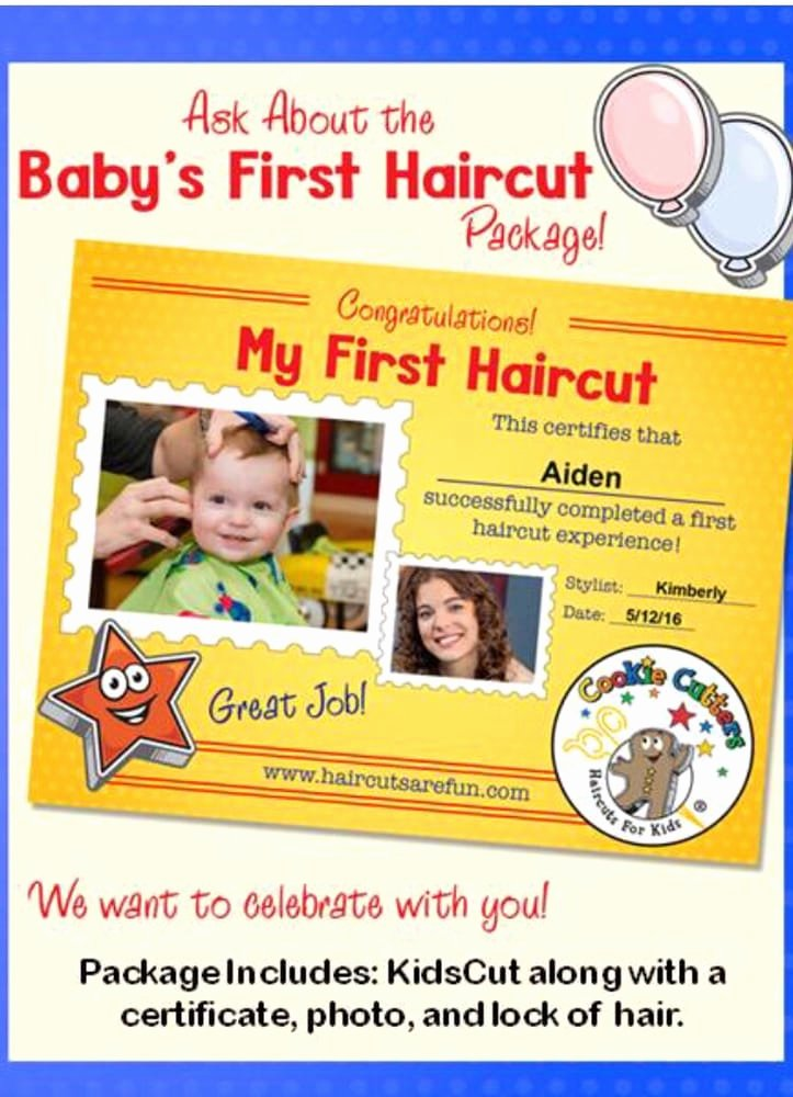 Baby First Haircut Certificate Beautiful Baby S First Haircut Package is Adorable $19 95 Yelp