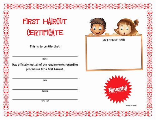 Baby First Haircut Certificate Fresh First Haircut Certificate Haircuts Models Ideas