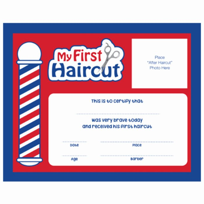 "Baby First Haircut Certificate Fresh ""my First Haircut"" Certificates 12 Pack Sc Mfh"