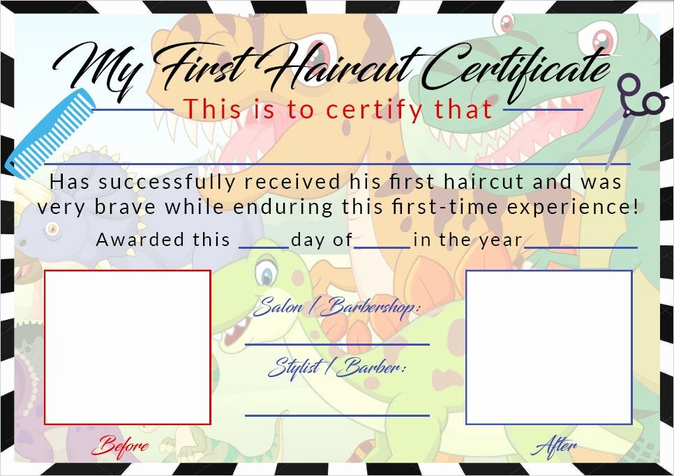 Baby First Haircut Certificate Inspirational Boys First Haircut Certificate Baby First Haircut