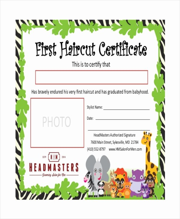 Baby First Haircut Certificate Lovely First Haircut Certificate Free Download Printable
