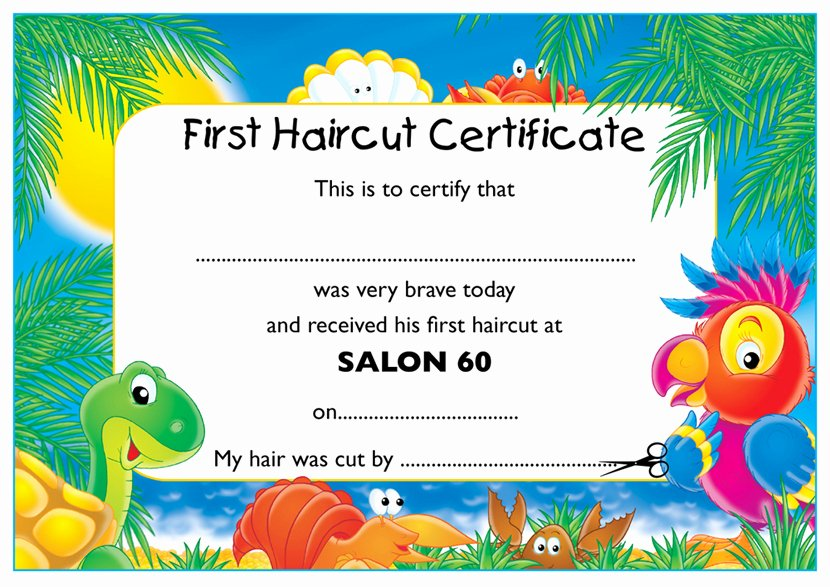 Baby First Haircut Certificate Lovely My First Haircut Certificate Haircuts Models Ideas