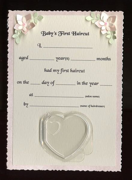 Baby First Haircut Certificate Luxury Baby S First Haircut Certificate Pink Not This Style