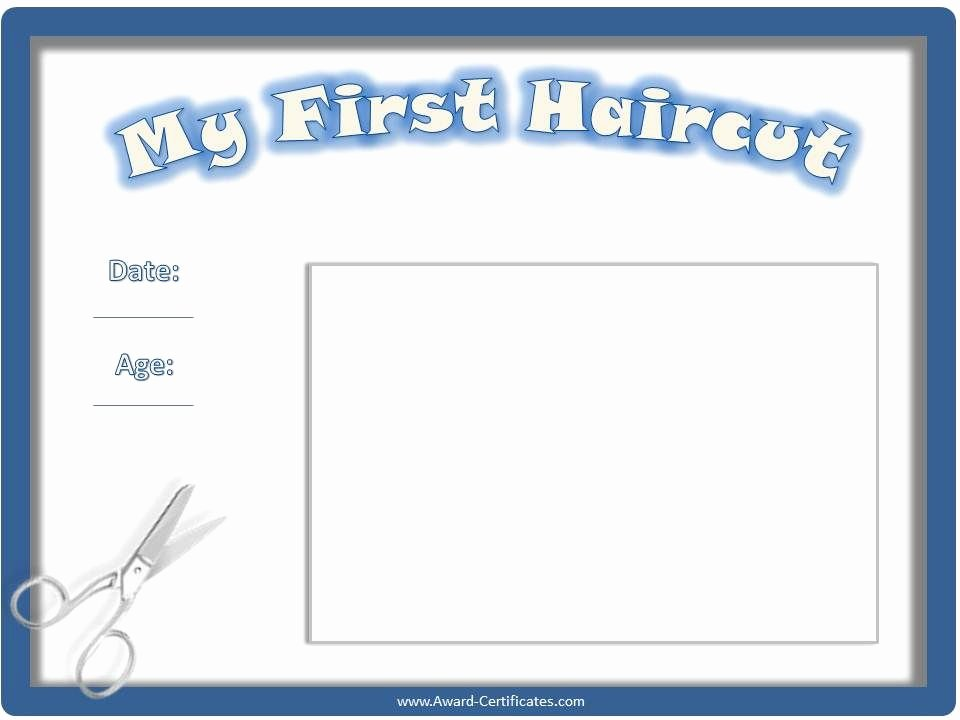 Baby First Haircut Certificate Luxury Certificate for First Haircut My First