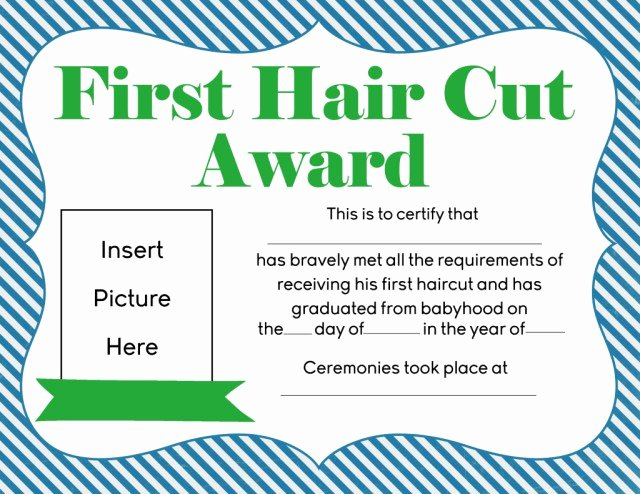 Baby First Haircut Certificate Luxury First Haircut Certificate Free Download Printable