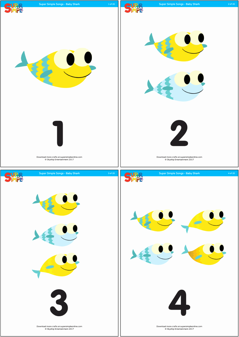 Baby Flash Cards Free Elegant Baby Shark Counting Flashcards Super Simple