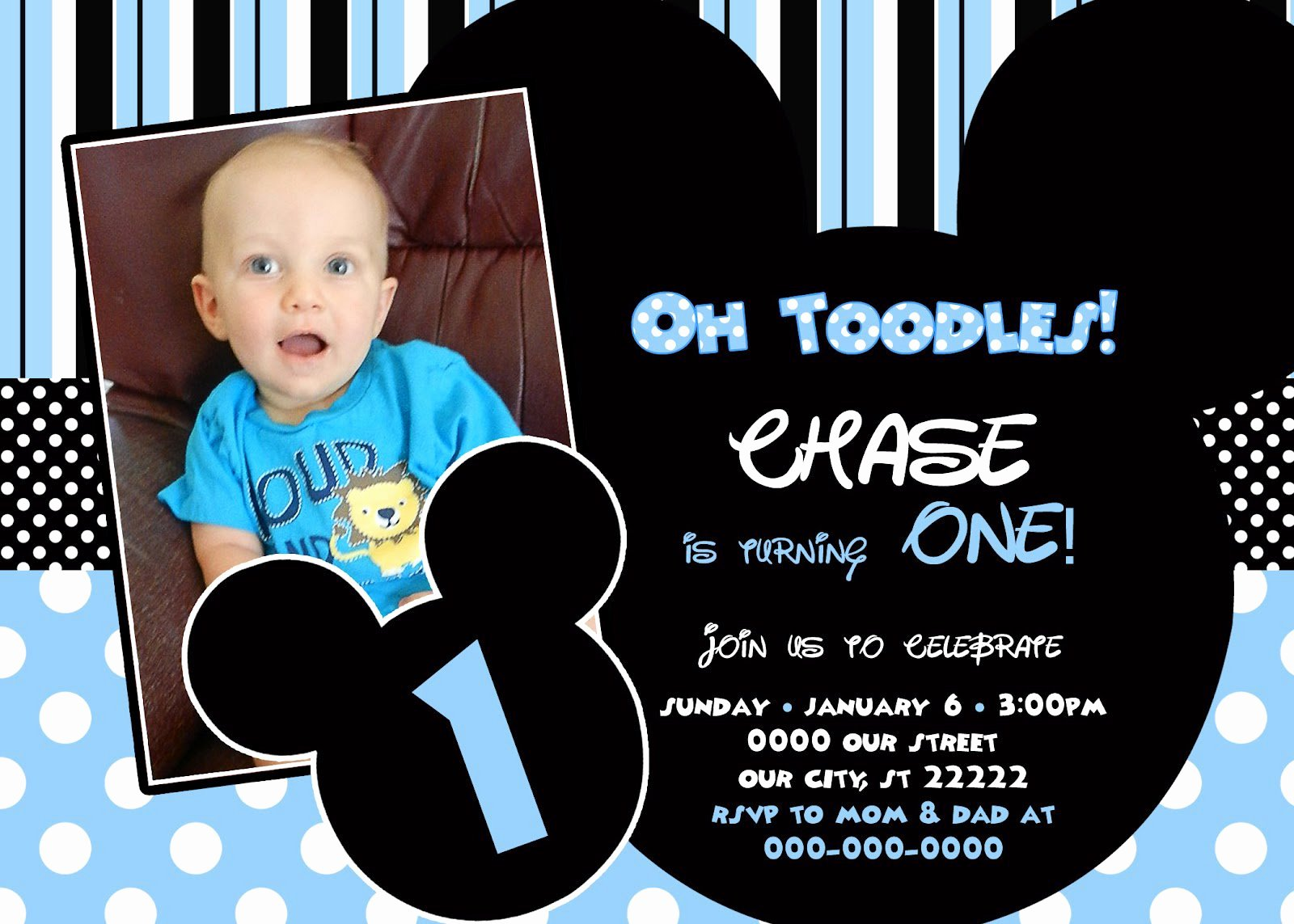 Baby Mickey 1st Birthday Invitations Elegant Baby Mickey Mouse Birthday Invitations