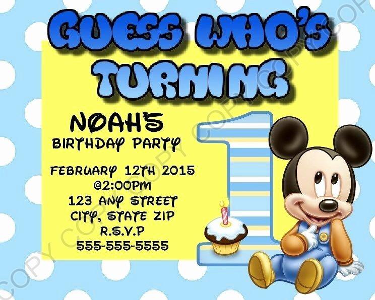 Baby Mickey 1st Birthday Invitations Fresh Mickey Mouse First 1st Birthday Invitations 8 Pk