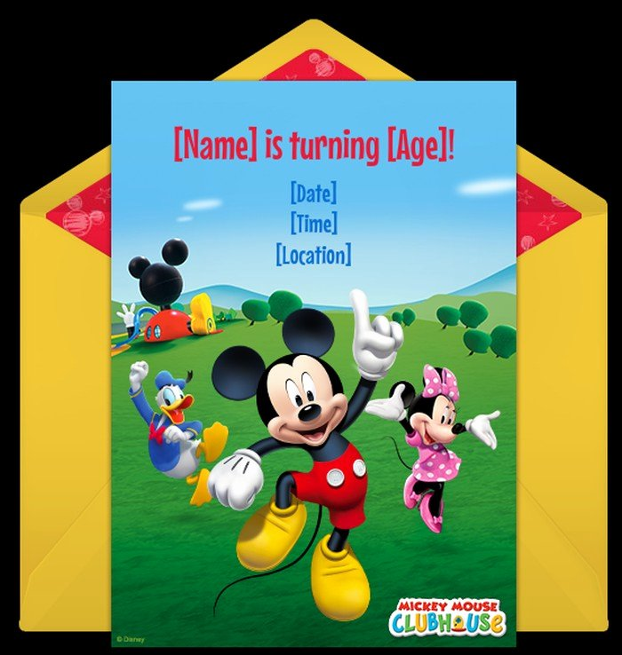 Baby Mickey Birthday Invitations Beautiful Mickey Mouse Baby Shower Invitations
