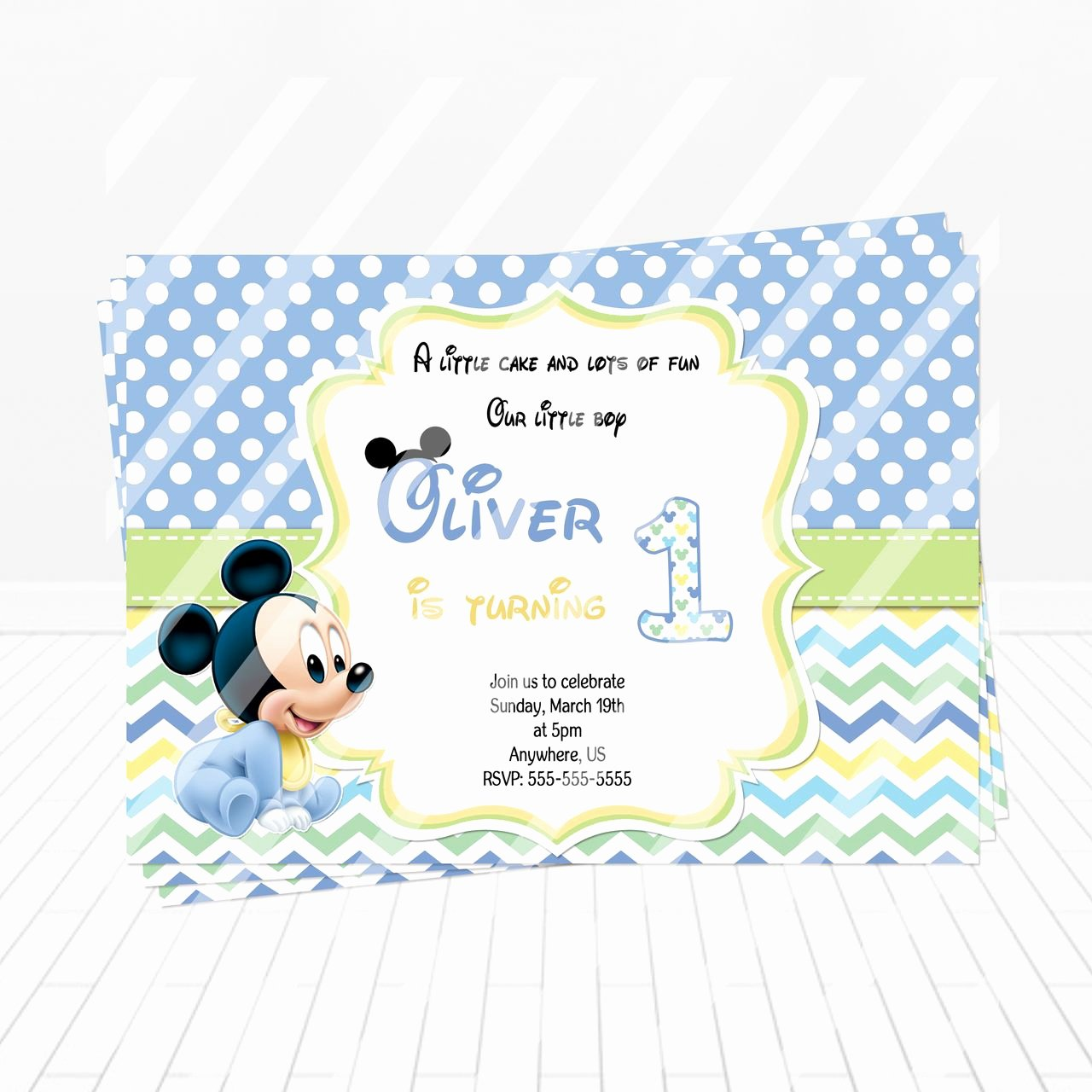 Baby Mickey Birthday Invitations Lovely Baby Mickey Birthday Invitation Partyexpressinvitations
