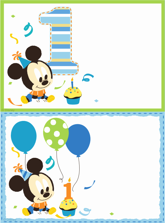 Baby Mickey Birthday Invitations Unique Baby Mickey Mouse Invitation Template Free