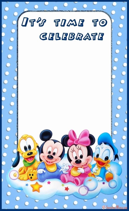 Baby Mickey Mouse Birthday Invitations Beautiful Mickey Mouse Birthday Invitation Templates