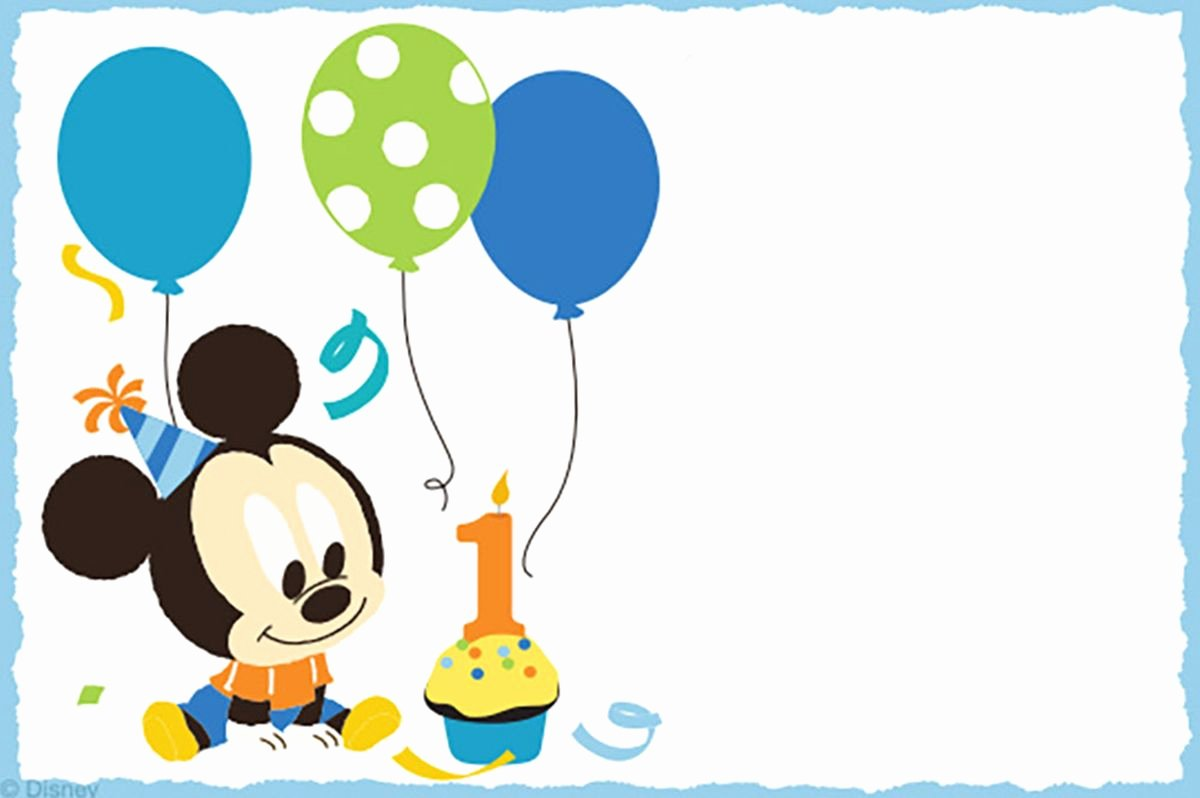 Baby Mickey Mouse Birthday Invitations Beautiful Mickey Mouse Free Printable Invitation Templates