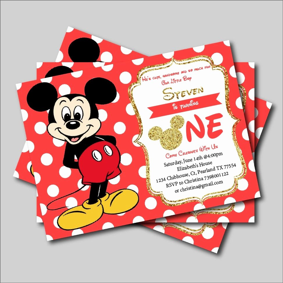 Baby Mickey Mouse Birthday Invitations Elegant 14 Pcs Lot Mickey Mouse Birthday Invitation Boys Mickey