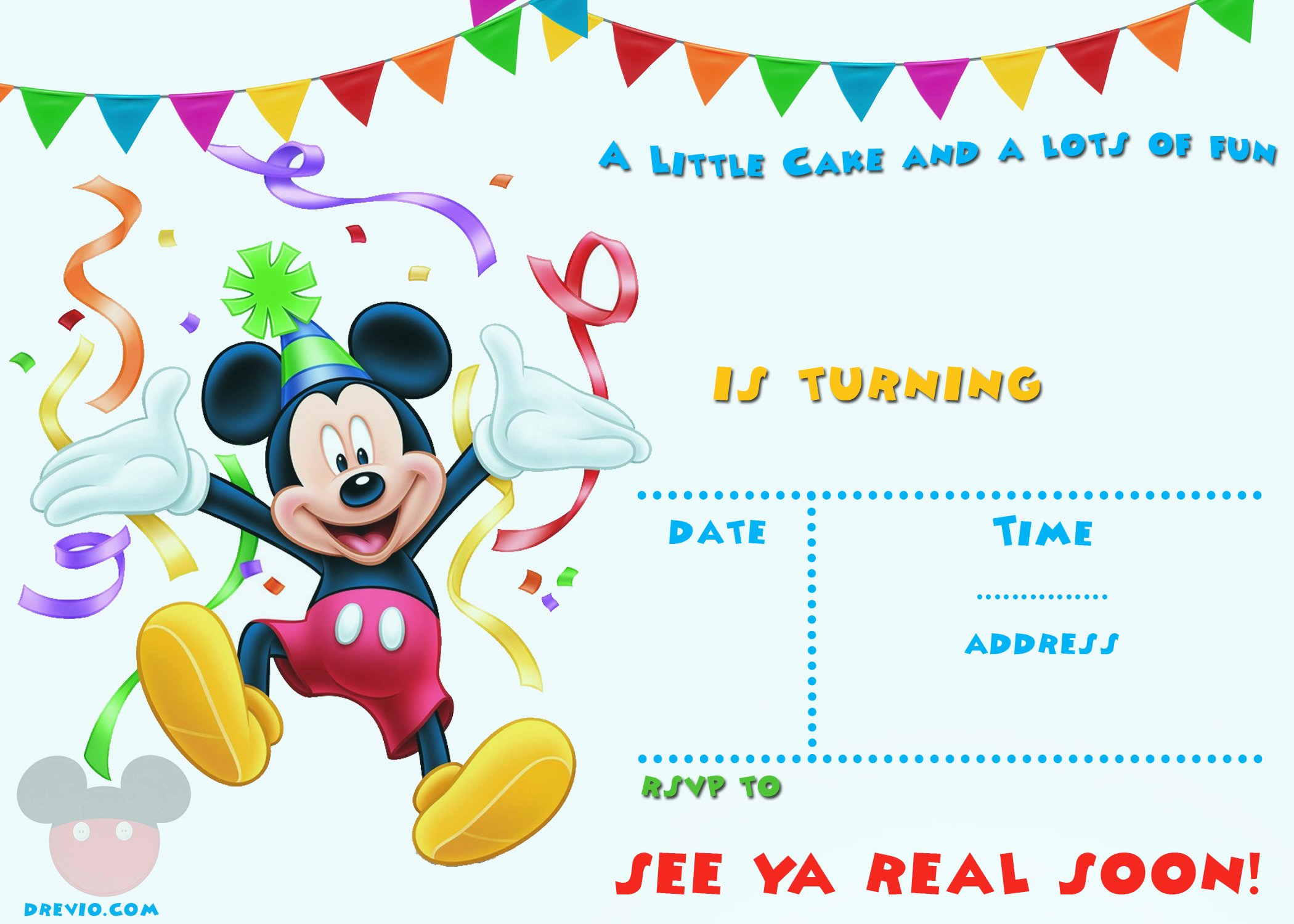 Baby Mickey Mouse Birthday Invitations Unique Free Mickey Mouse 1st Birthday Invitations – Free