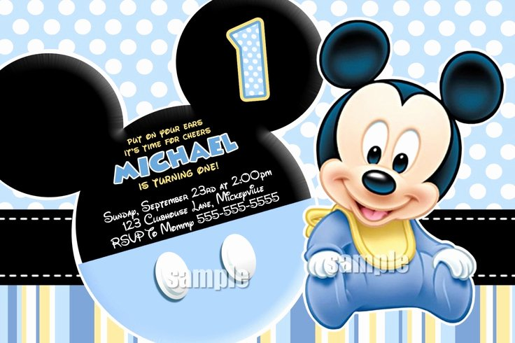 Baby Mickey Mouse Birthday Invitations Unique Pin by Joell Brand On Mickey