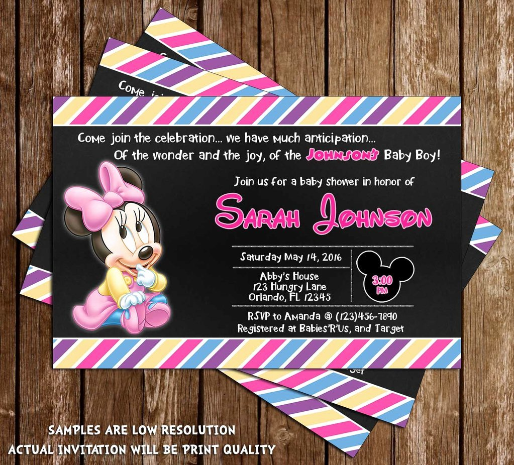 Baby Minnie Mouse Invitation Awesome Novel Concept Designs Minnie Mouse Baby Girl Baby