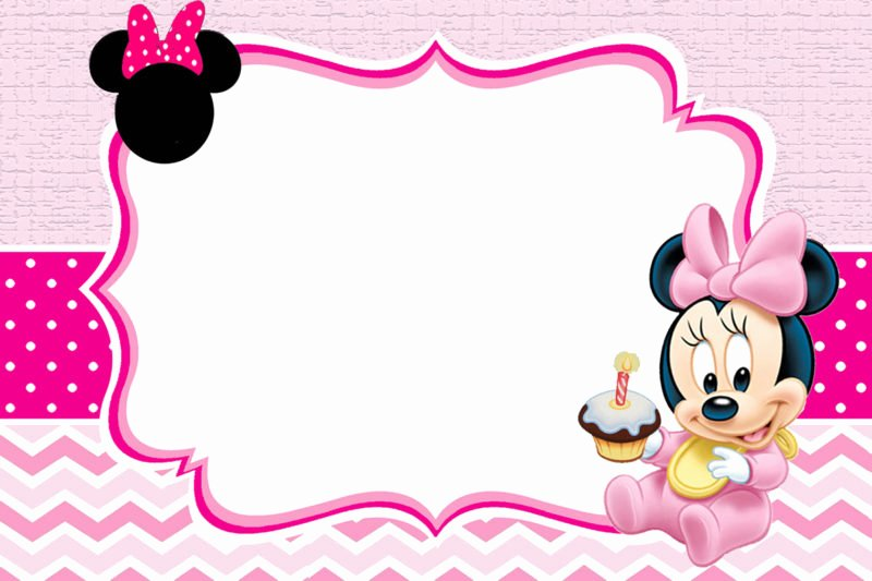 Baby Minnie Mouse Invitation Beautiful Baby Minnie Mouse Invitation Template Free Printable