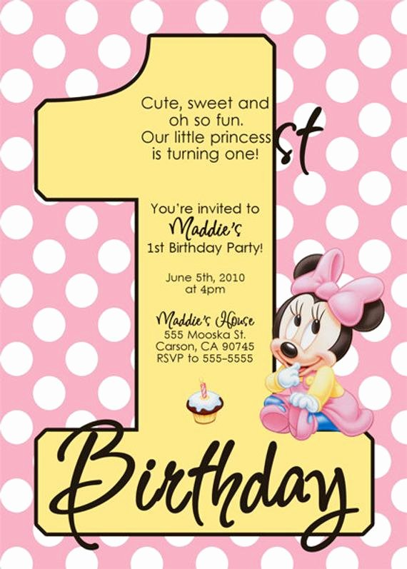 Baby Minnie Mouse Invitation Beautiful Baby Minnie Mouse Invitations by Dpdesigns2012 On Etsy