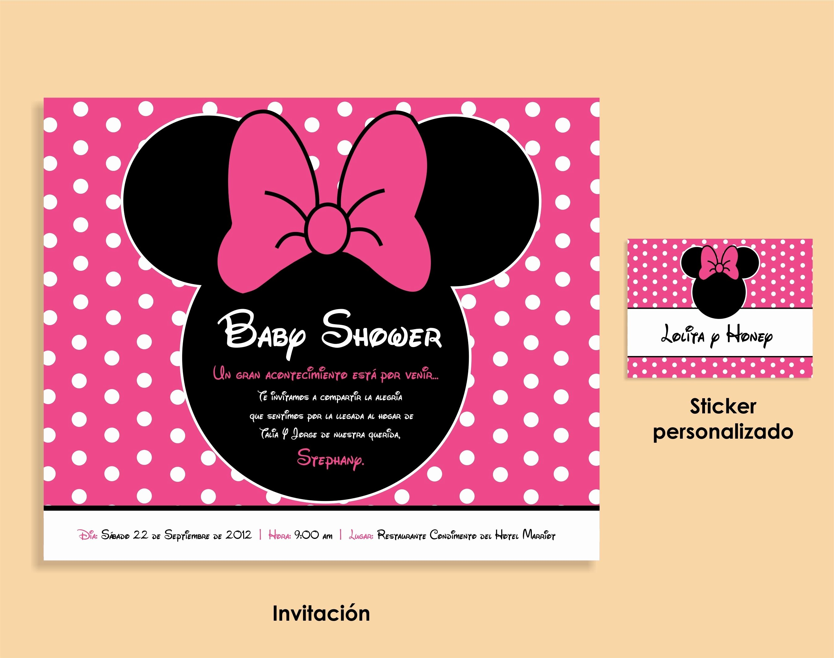 Baby Minnie Mouse Invitation Best Of Minnie Mouse Baby Shower Invitation