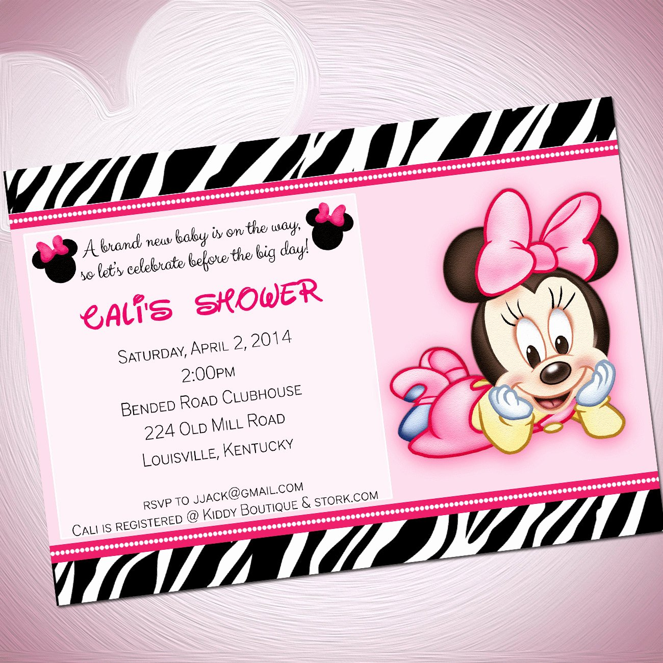 Baby Minnie Mouse Invitation Elegant Cute Minnie Mouse Baby Shower Invitations