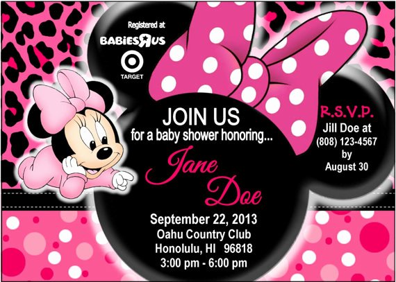 Baby Minnie Mouse Invitation Fresh Minnie Mouse Baby Shower Ideas