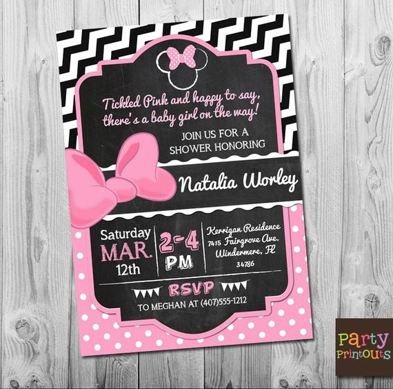Baby Minnie Mouse Invitation Inspirational Minnie Mouse Baby Shower Invitation Minnie Mouse Baby Shower