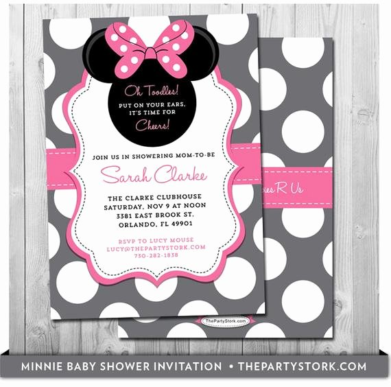 Baby Minnie Mouse Invitation Inspirational Minnie Mouse Baby Shower Invites Baby Shower Minnie Mouse