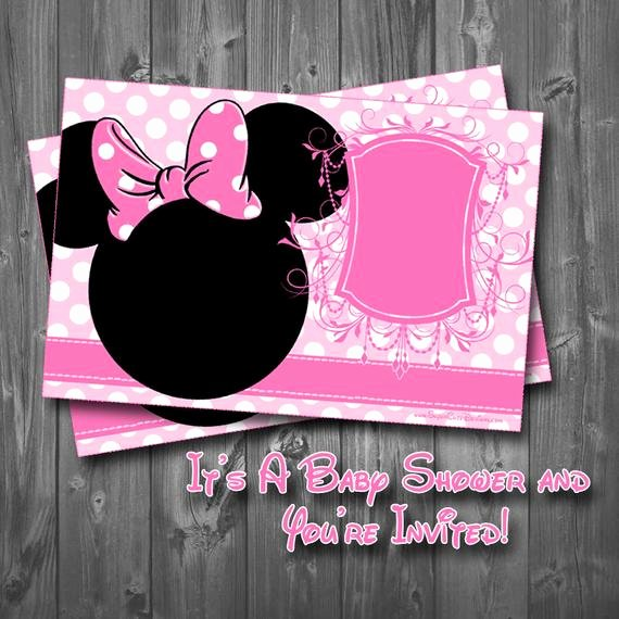 Baby Minnie Mouse Invitation Lovely Minnie Mouse Baby Shower Invitation