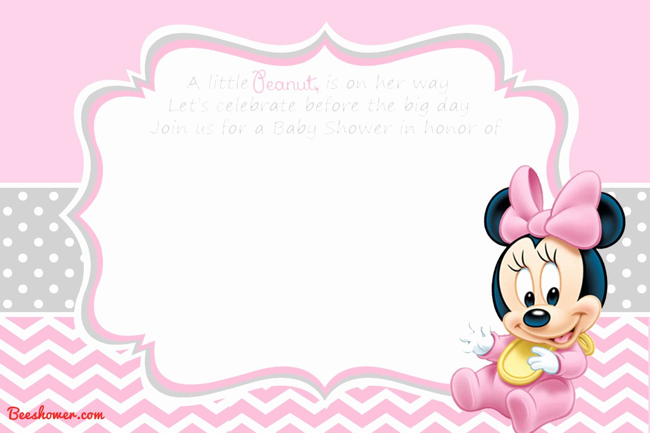 Baby Minnie Mouse Invitation Unique New Free Printable Mickey Mouse Baby Shower Invitation