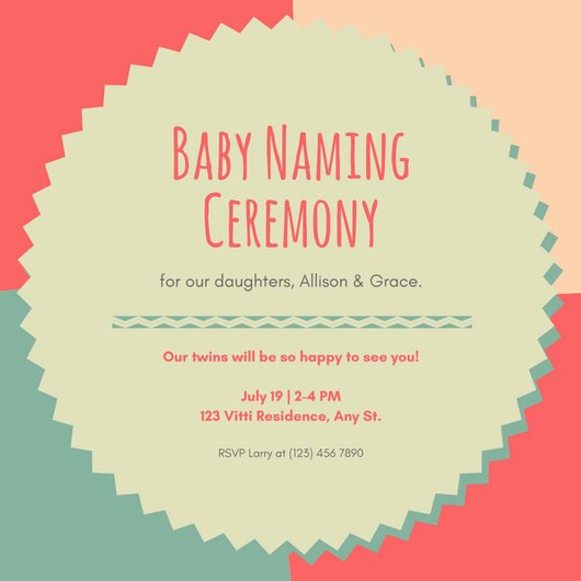 Baby Naming Ceremony Invitation Beautiful Customize 832 Baby Shower Invitation Templates Online