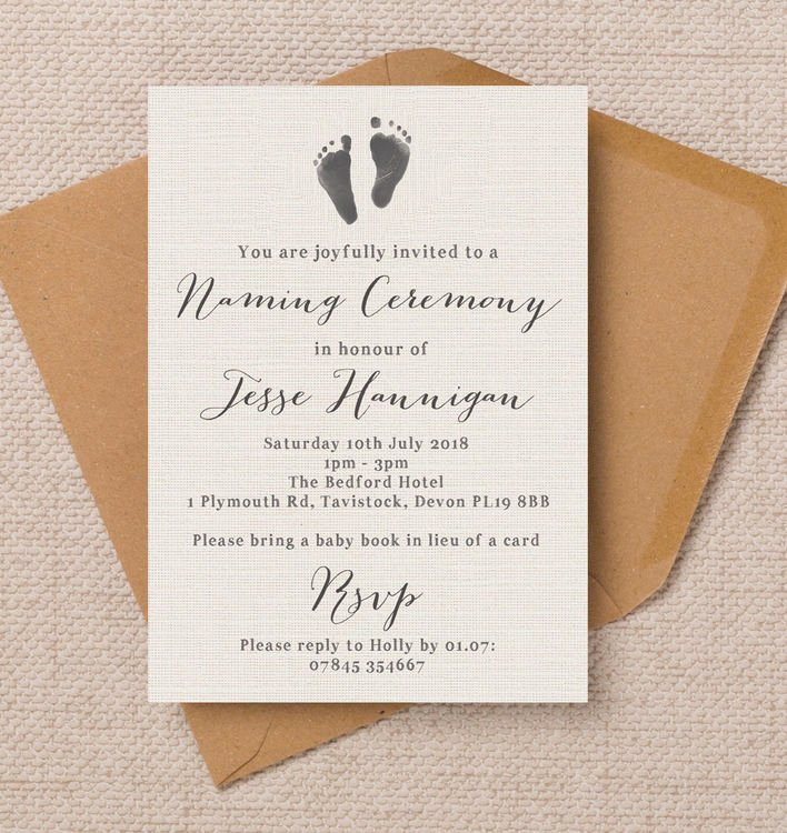Baby Naming Ceremony Invitation Beautiful Rustic Calligraphy Naming Day Ceremony Invitation From £0