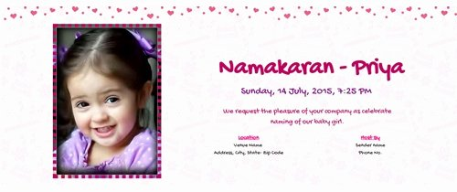Baby Naming Ceremony Invitation Best Of Free Naming Ceremony Namakaran Invitation Card & Line