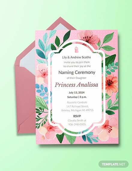 Baby Naming Ceremony Invitation Fresh Free Baby Naming Ceremony Invitation Template Download