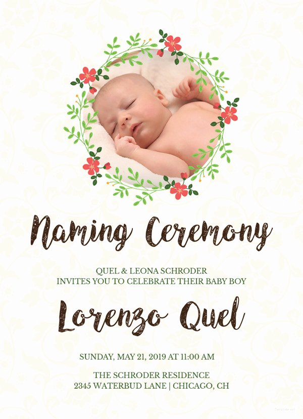 Baby Naming Ceremony Invitation Unique 36 Naming Ceremony Invitations – Free Psd Pdf format