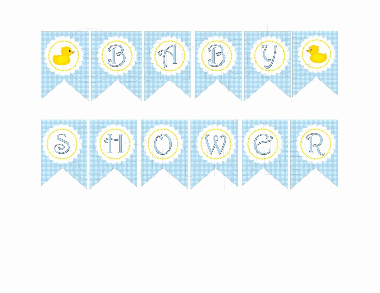 Baby Shower Banner Printable Elegant Blue Rubber Duck Baby Shower Diy Printable Banner by Suzz377
