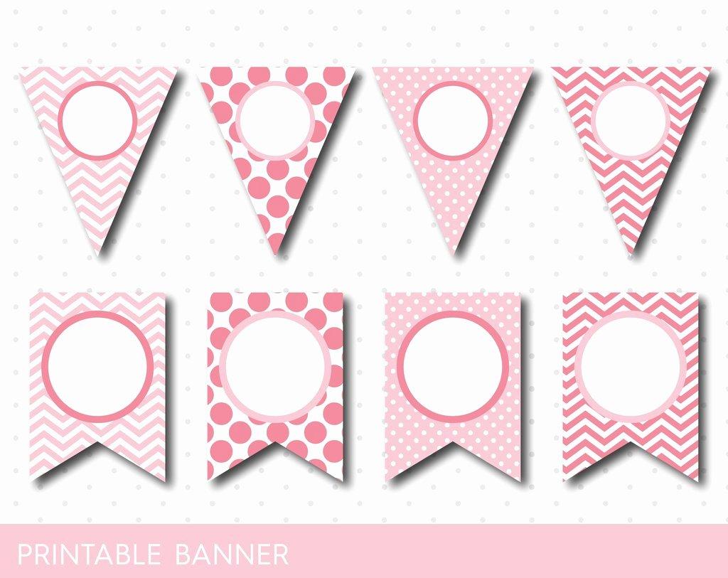 Baby Shower Banner Printable Elegant Printable Pink Banner Pink Birthday and Baby Shower