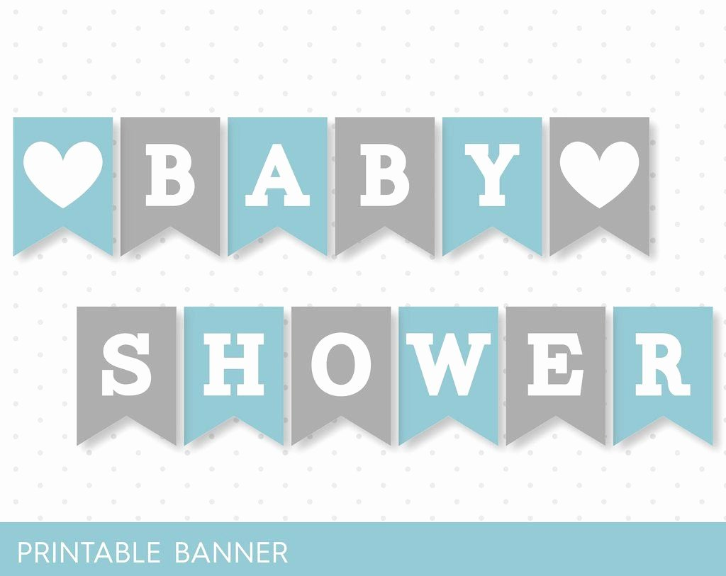 Baby Shower Banner Printable Inspirational Blue Banner Grey Banner Oh Baby Banner Oh Boy Banner