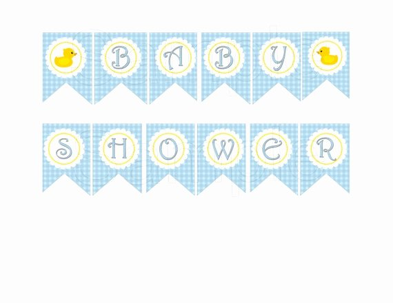 "Baby Shower Banner Printable Inspirational Items Similar to Blue Rubber Duck ""baby Shower"" Diy"