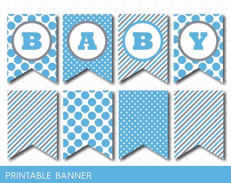 Baby Shower Banner Printable Lovely Blue Banner Party Banner Birthday Banner Baby Shower