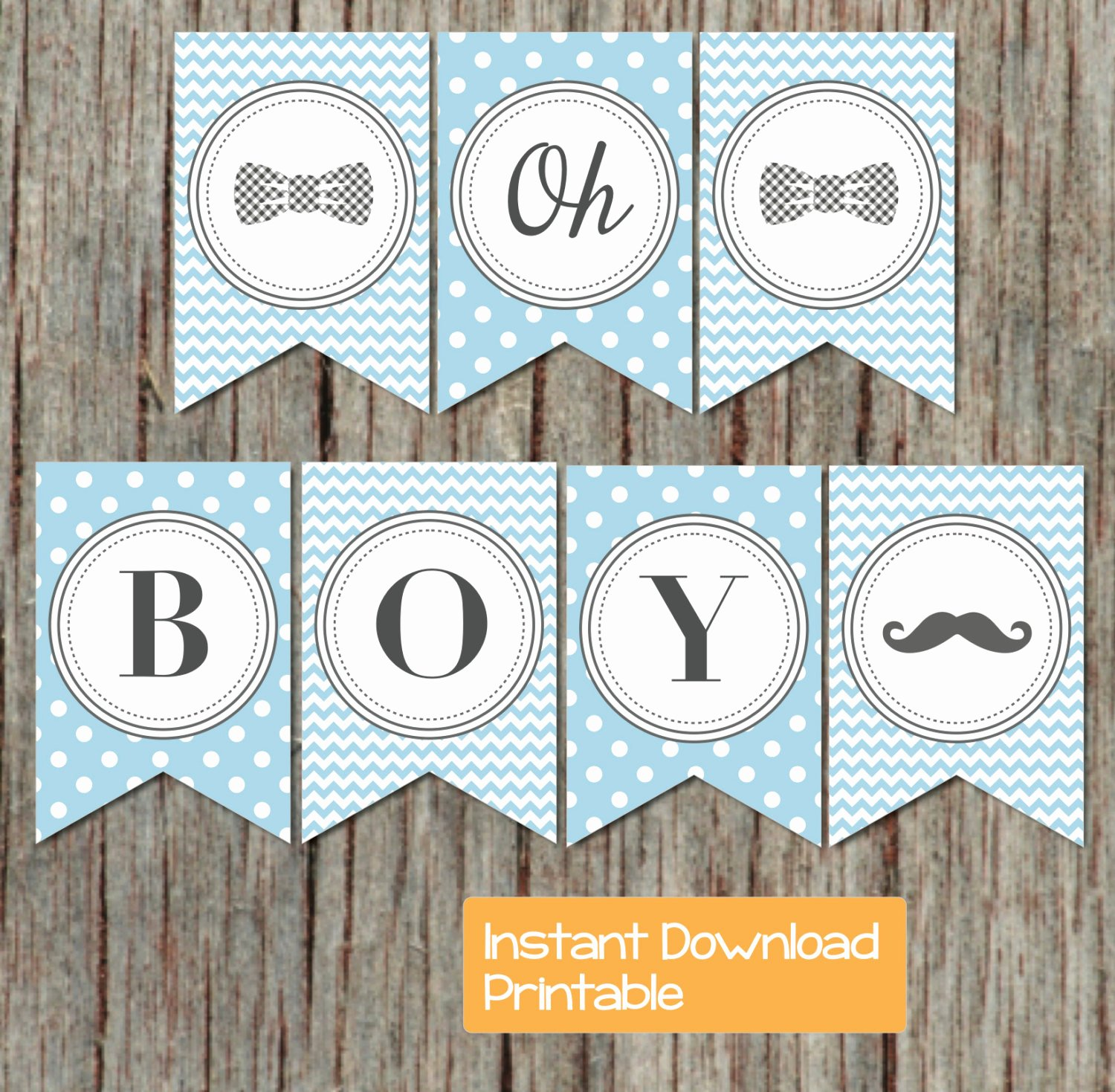 Baby Shower Banner Printable Lovely Boy Oh Boy Printable Baby Shower Banner Powder Blue Grey