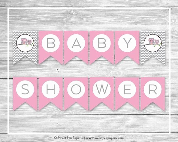 Baby Shower Banner Printable Luxury Items Similar to Owl Baby Shower Banner Printable Baby