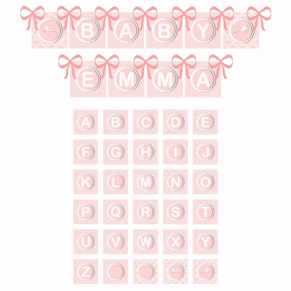 Baby Shower Banner Printable New Baby Girl Shower Banner Printable Pink Birthday Banner and