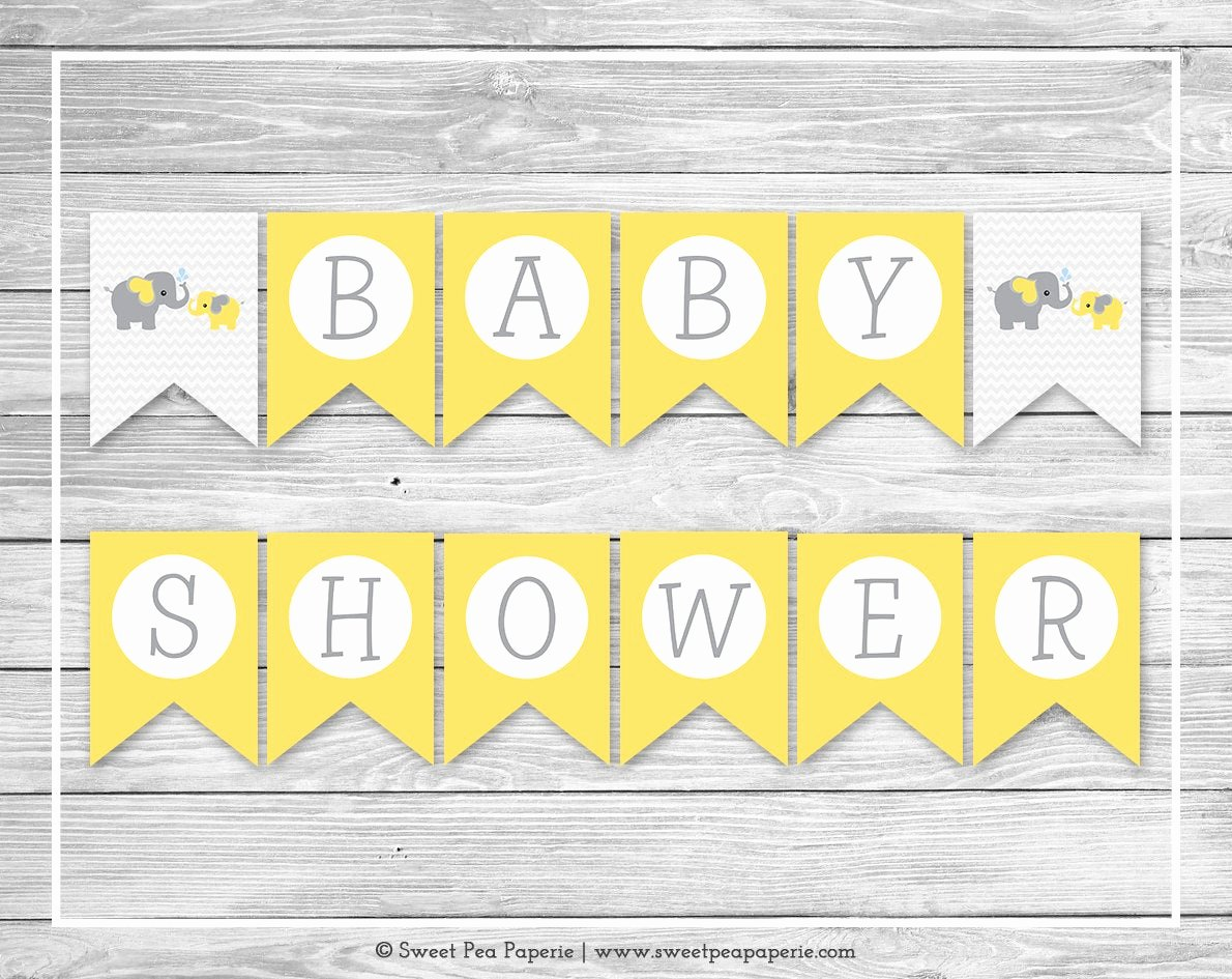 Baby Shower Banner Printable New Elephant Baby Shower Banner Printable Baby Shower Banner
