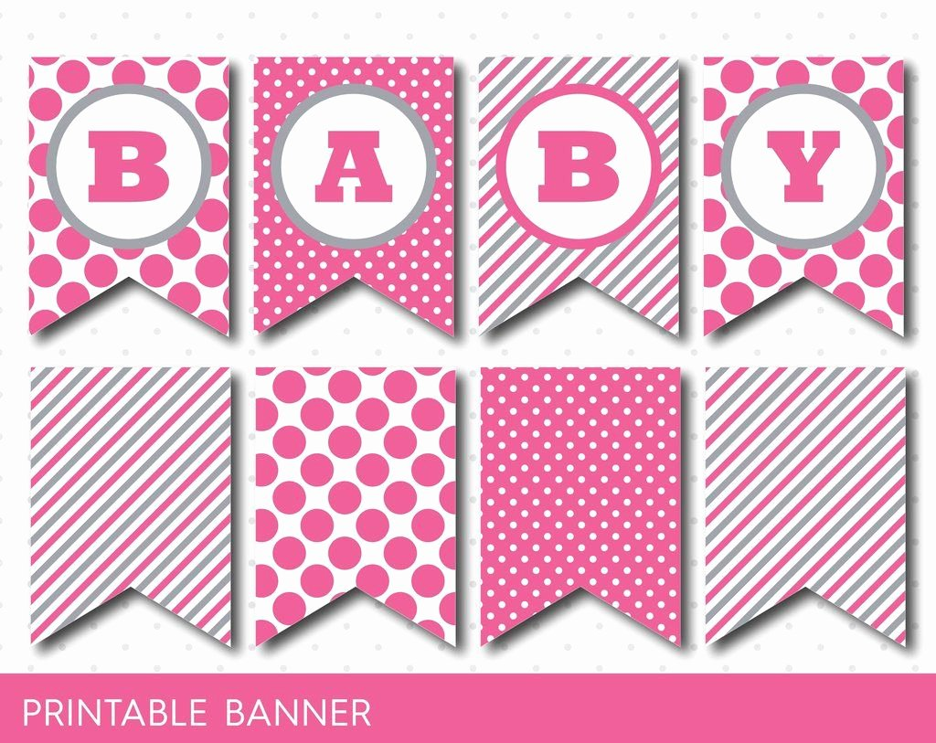 Baby Shower Banner Printable New Hot Pink Banner Party Banner Birthday Banner Baby