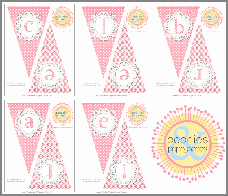 Baby Shower Banner Printable Unique Pink Celebrate Banner – Free Party Printables